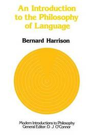 An Introduction to the Philosophy of Language by Bernard Harrison image