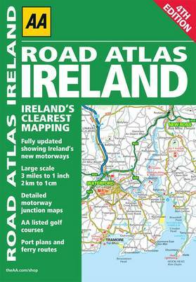 AA Road Atlas Ireland by AA Publishing image