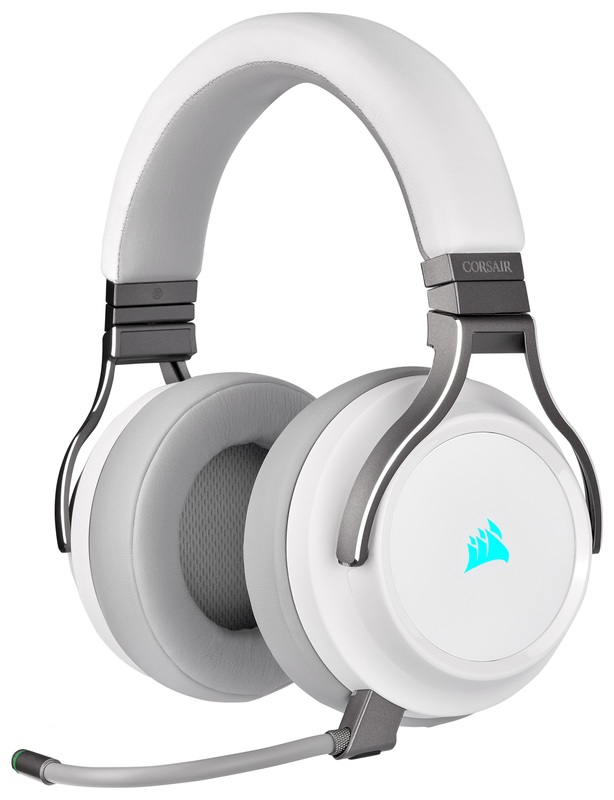 Corsair Virtuoso RGB Wireless Gaming Headset (White) for PC