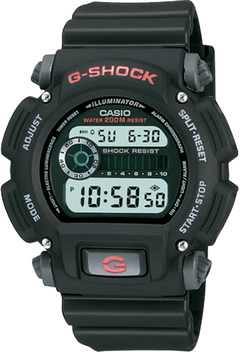 Casio G-Shock Digital Mens Black Watch DW9052-1V DW-9052-1VDR