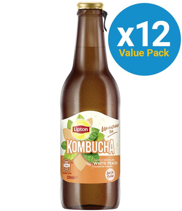 Lipton: Kombucha - White Peach 330ml (12 Pack)
