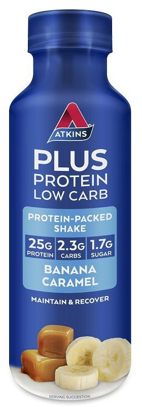 Atkins PLUS Protein-Packed Shake - Banana Caramel (400ml)