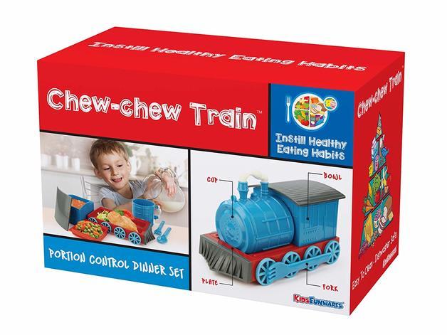 Chew Chew Train Dinner Set (Blue)