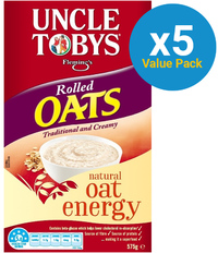 Uncle Tobys Rolled Oats 575g (5 Box Value Pack) image