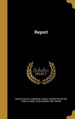 Report by John Edward 1863- Raker