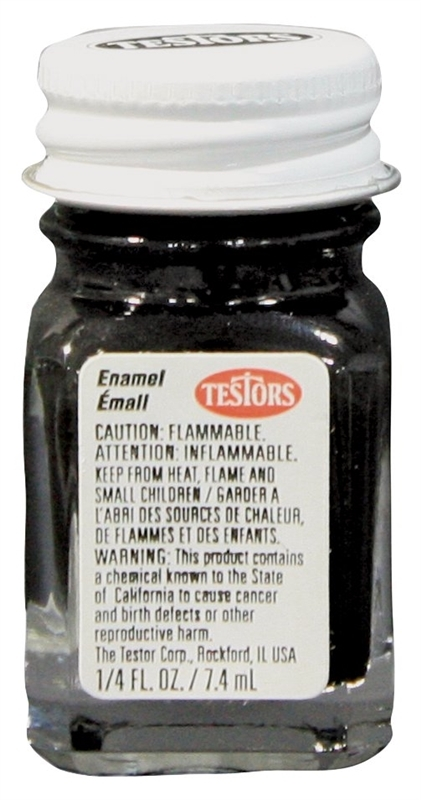 Testors: Enamel Paint - Flat Black | at Mighty Ape NZ