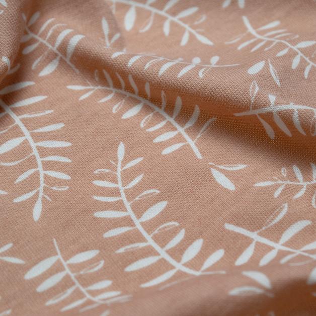 Woolbabe: Merino/Organic Cotton Swaddle/Blanket Ember Leaves