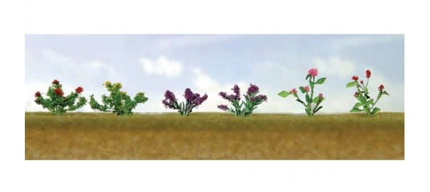 JTT: HO Scale Assorted Flower Plants 1 - 12 Pack