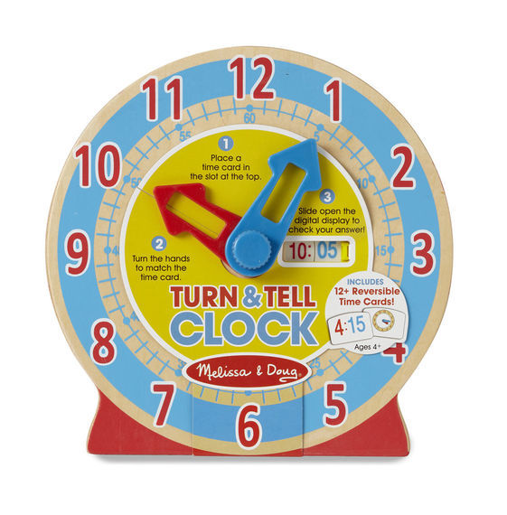 Melissa & Doug: Turn and Tell Wooden Clock