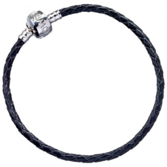 Harry Potter: Black Leather Charm Bracelet - Extra Small