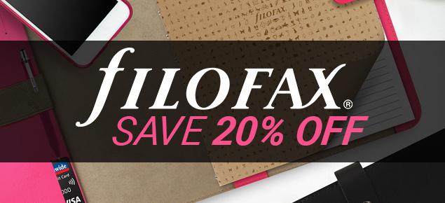 20% off Filofax!