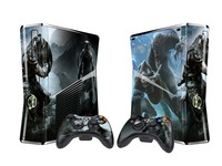 Dual Coloured Slim Console Skin Sticker (Elder Scrolls V: Skyrim) for X360