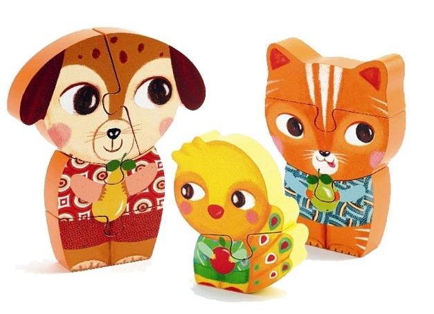 Djeco: Wooden Puzzle - Enzo & Co