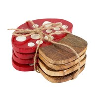 Toadstool Coasters (Set of 4)