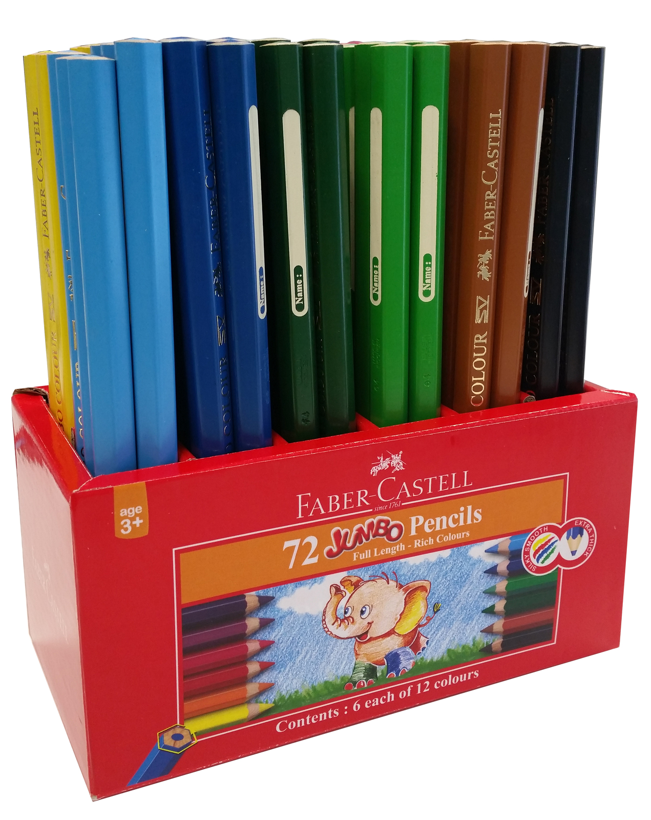 Faber-Castell: Jumbo Pencils (Caddie of 72) image