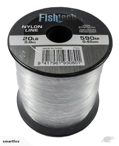 Fishtech 1/4 Pound Nylon Spool 20lb 590m