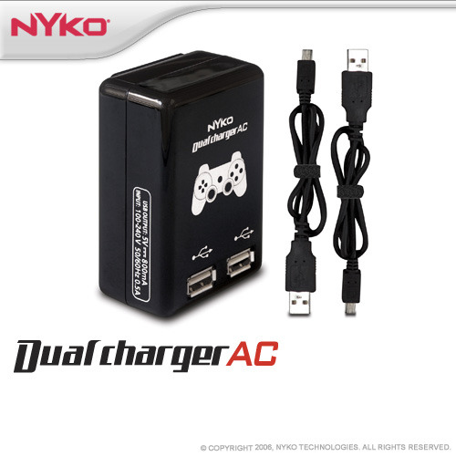 Nyko Dual Charge AC for PS3