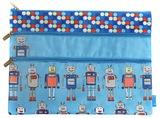 Spencil: A4 3 Zip Pencil Case - Robots