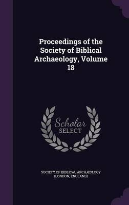 Proceedings of the Society of Biblical Archaeology, Volume 18 image