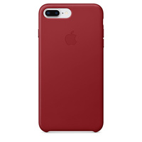 iPhone 8 Plus Leather Case - (PRODUCT)Red