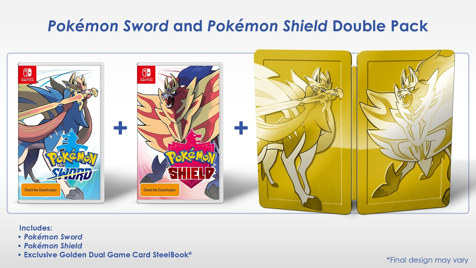Pokemon Sword and Pokemon Shield Double Pack for Switch image