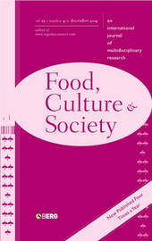 Food, Culture and Society Volume 12 Issue 4: An International Journal of Multidisciplinary Research by Lisa Heldke image
