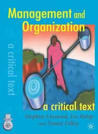Management and Organization: A Critical Text by Liz Fulop image