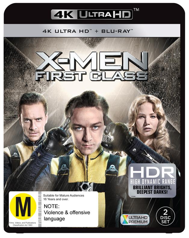X-men: First Class on Blu-ray, UHD Blu-ray