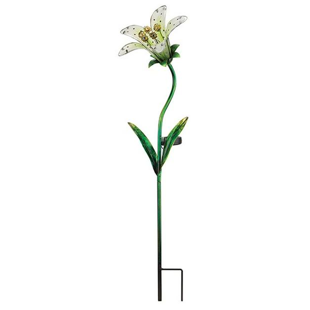 Regal: Solar Tiger Lily Stake - White