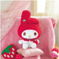My Melody Huwahuwa Strawberry Porch Plush