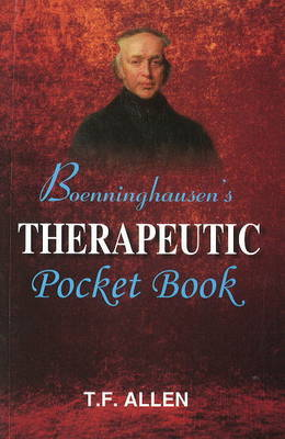 Boenninghausen's Therapeutic Pocket Book by Timothy Field Allen image