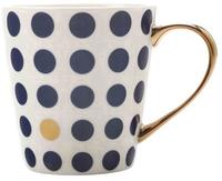 Maxwell & Williams Aurora Mug Gold Handle 300ML Spot Navy