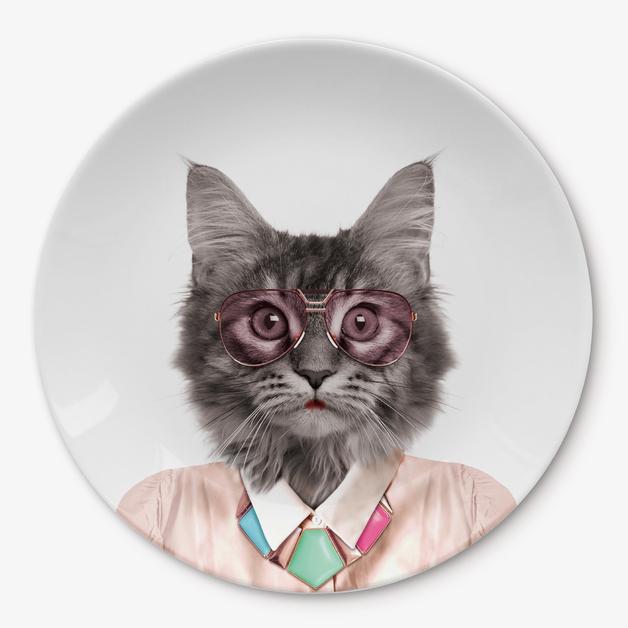 Wild Dining: Ceramic Dinner Plate - Cat (23cm)