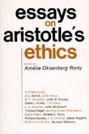 Essays on Aristotle's Ethics image