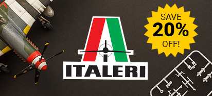 20% off Italeri kits
