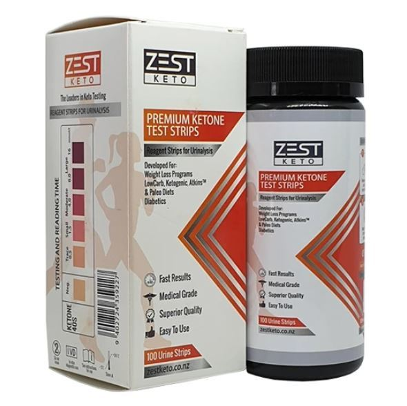 ZestKeto Ketone Urine Strips Bottle (100 Strips)