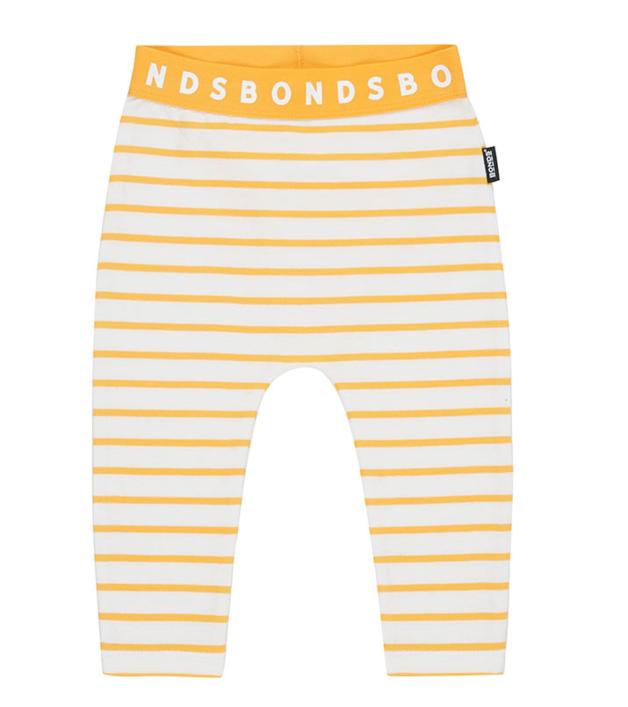 Bonds: Stretchy Leggings - White & Marigolden Stripe (6-12 Months)