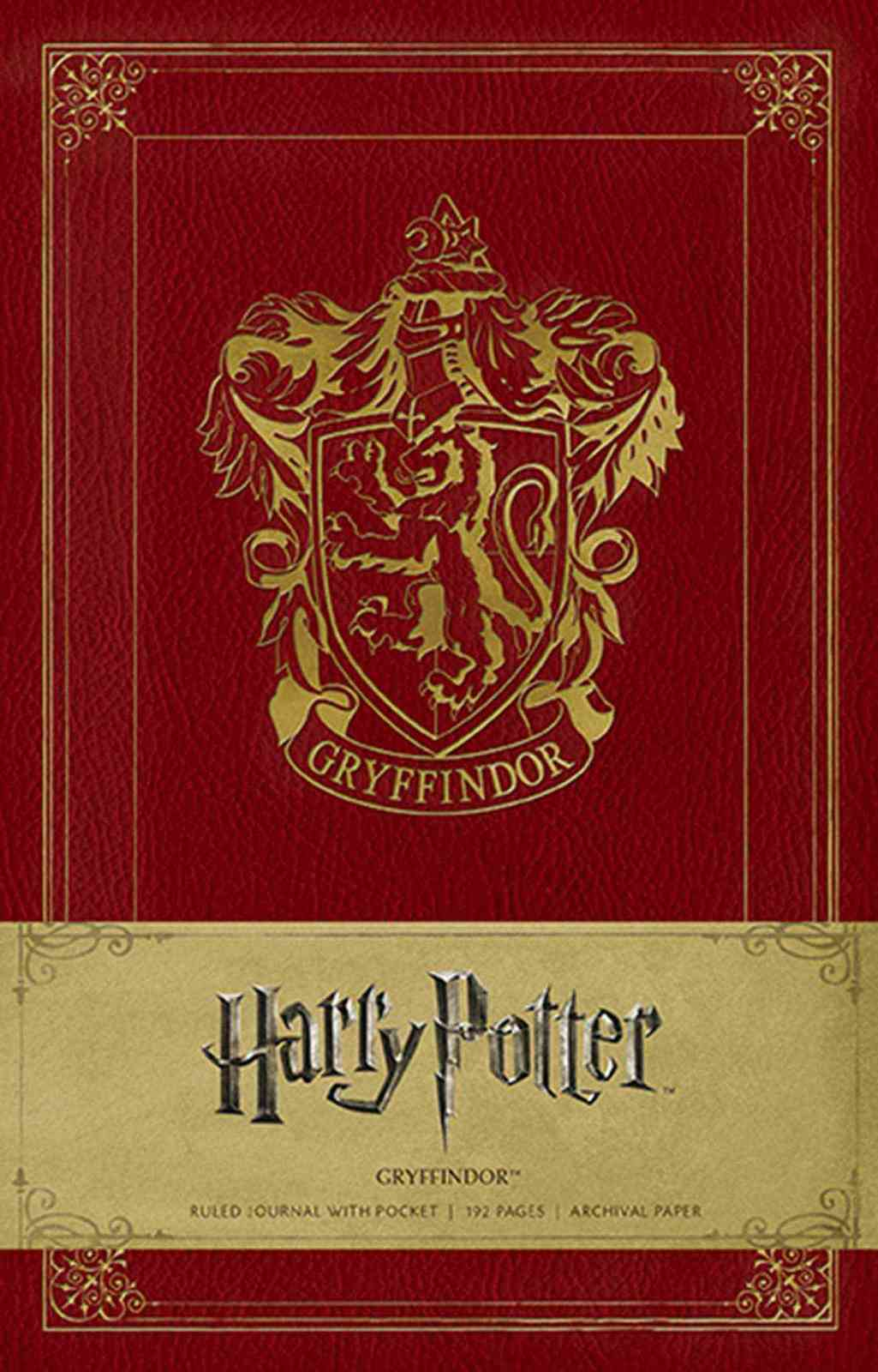 Harry Potter Gryffindor Hardcover Ruled Journal by Insight Editions image