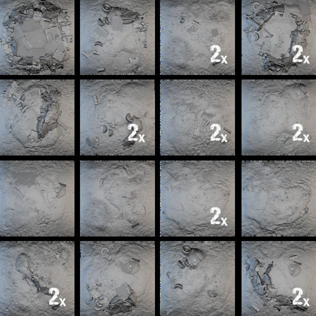 Tablescapes Tiles: Scrap Yard (24 tile set)