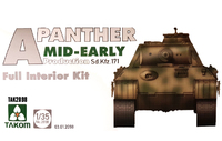 Takom: 1/35 Panther Interior Kit (Mid Ver.) - Model Kit