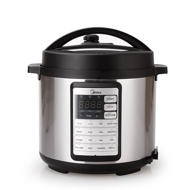 Midea Multi-Function 6L Pressure Cooker Black (2 Inner Pots)