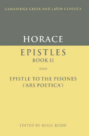 Cambridge Greek and Latin Classics by Horace