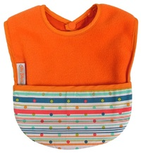 Silly Billyz Fleece Pocket Bib (Orange Sprite)