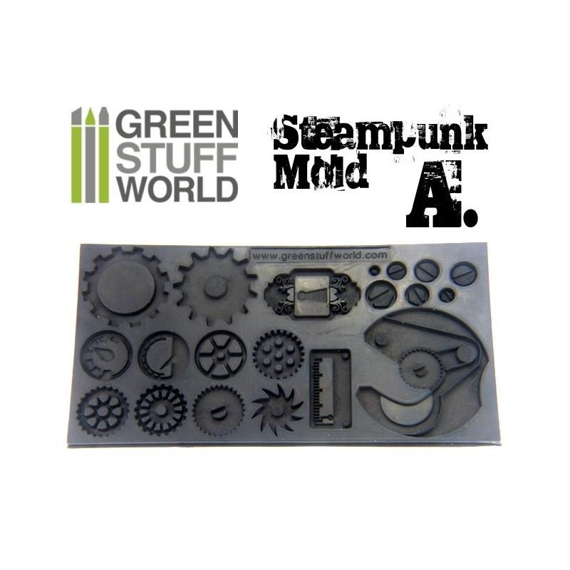 Green Stuff World :Steampunk Gear Texture Molds image