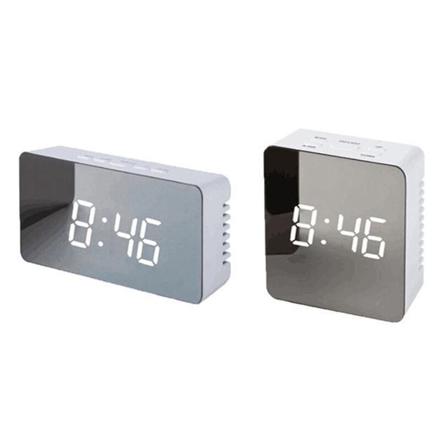 LED Mirror Clock: Style - Square