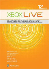 Xbox Live 12-Month Premium Gold Pack for Xbox 360