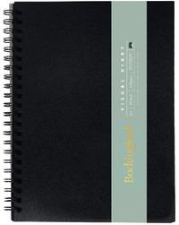 Bockingford A4 60lf Visual Diary (Black Paper)