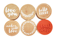 Kaisercraft Lucky Dip Rubber Stamps - Thank You (6pk)