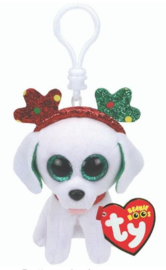 TY Beanie Boos: Xmas Sugar Puppy - Clip On Plush