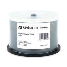 Verbatim CD-R 700MB 50Pk Silver Inkjet 52x Azo